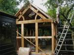 timber frame studio (under construction)